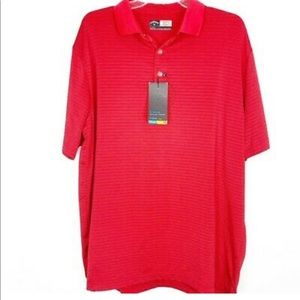 B2-1229 Callaway NWT Golf Shirt Stripped L